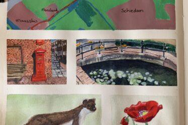 Wandelkaartje Maassluis - Schiedam