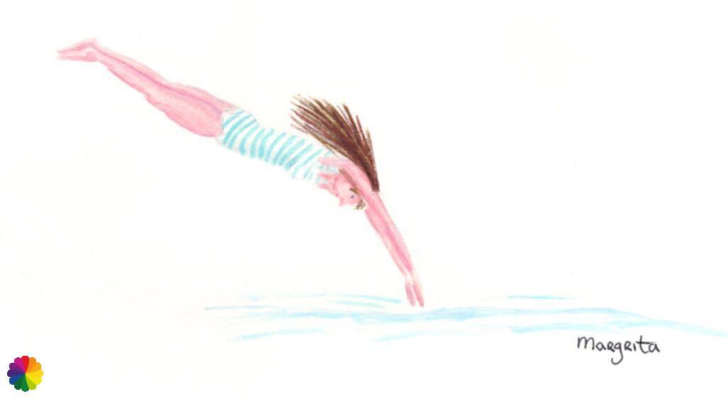 Illustration taking the plunge