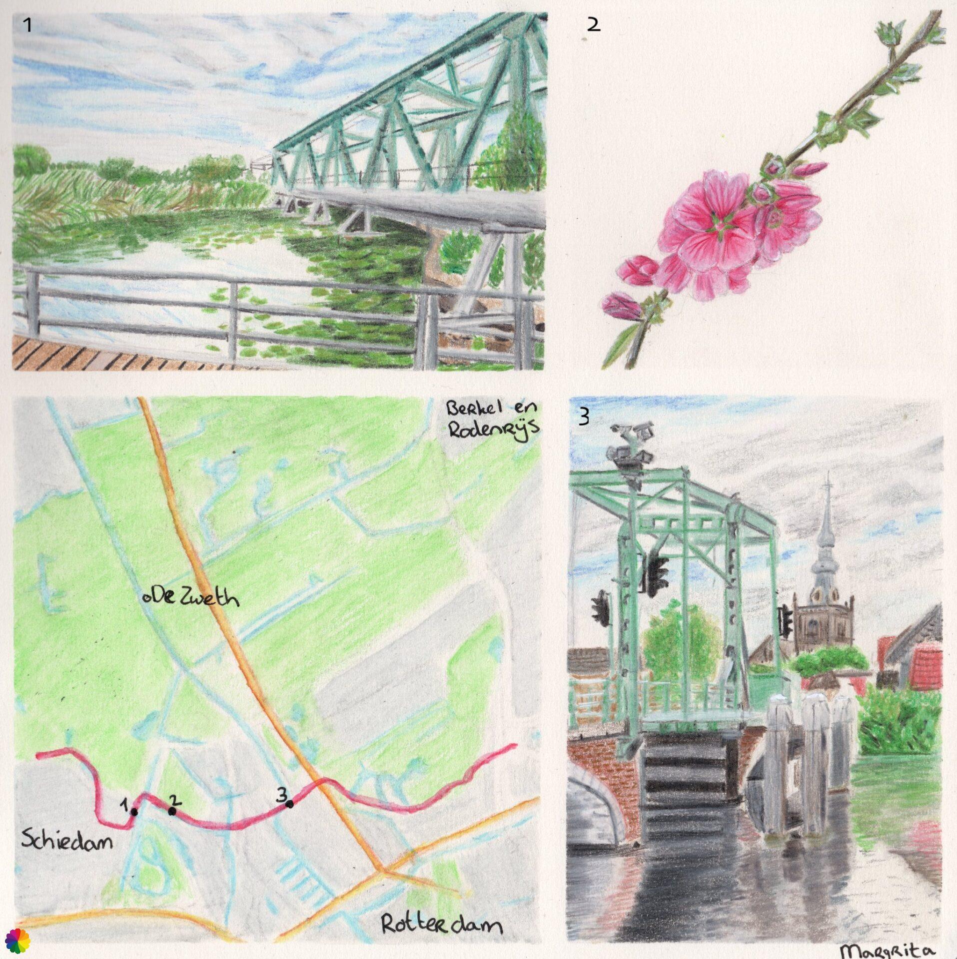 Wandelkaartje Schiedam - Kleiweg