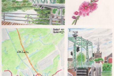 Hiking map Schiedam - Kleiweg, Rotterdam