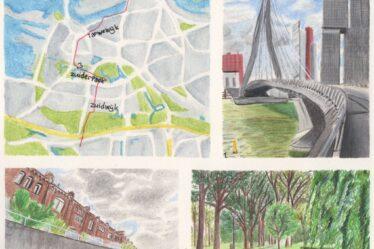 Hiking map Erasmus trail part 2