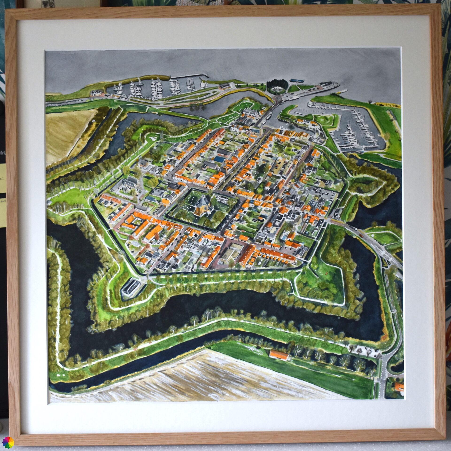 Willemstad in The Netherlands from the air