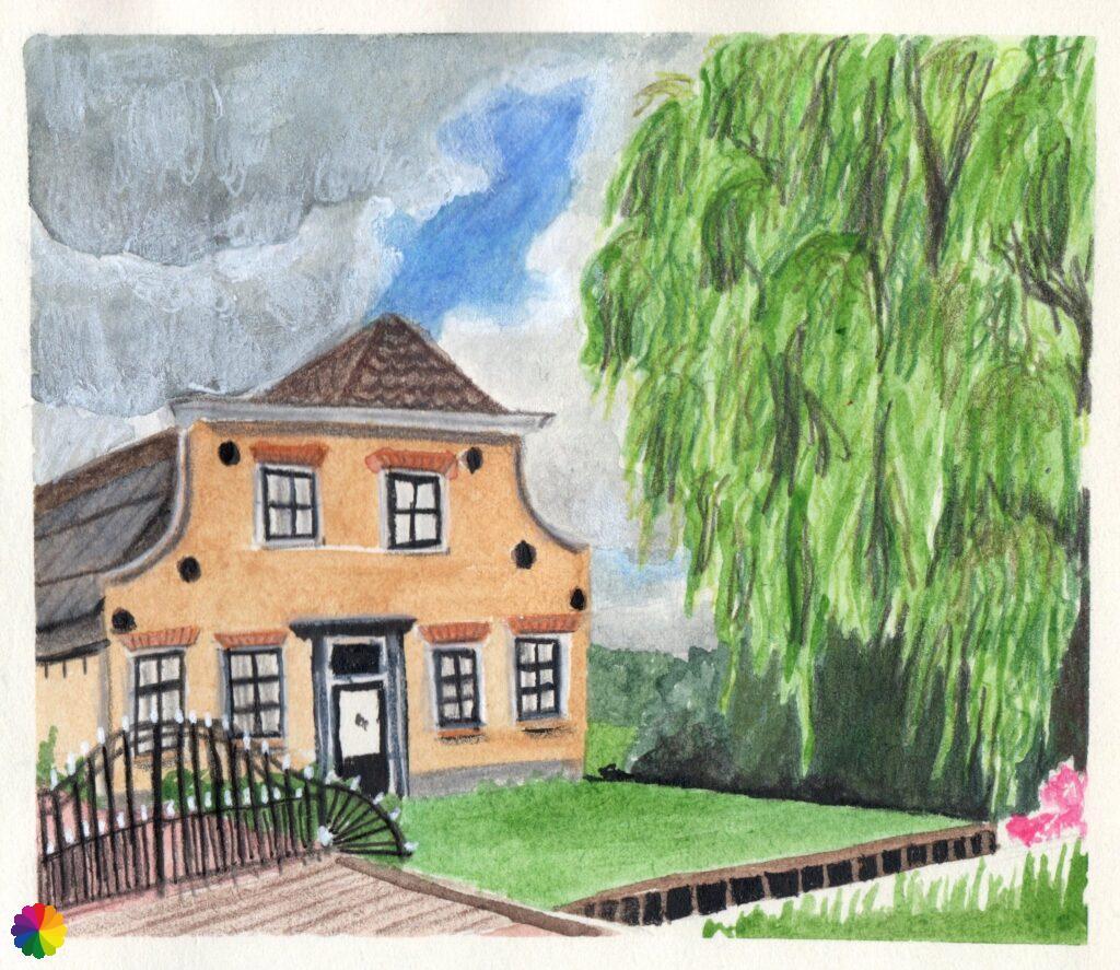 Illustration farm at Oud Reeuwijk