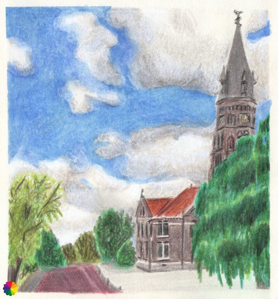 Illustration Sint-Petrus en Pauluskerk at Reeuwijk-Dorp