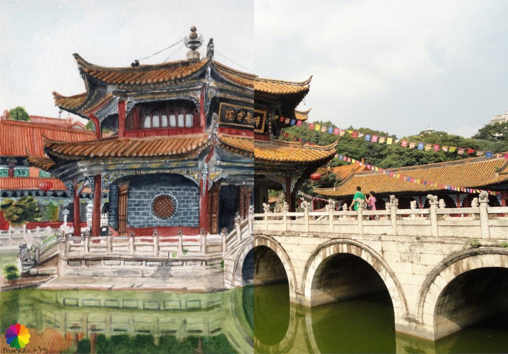 Yuantong temple half-half