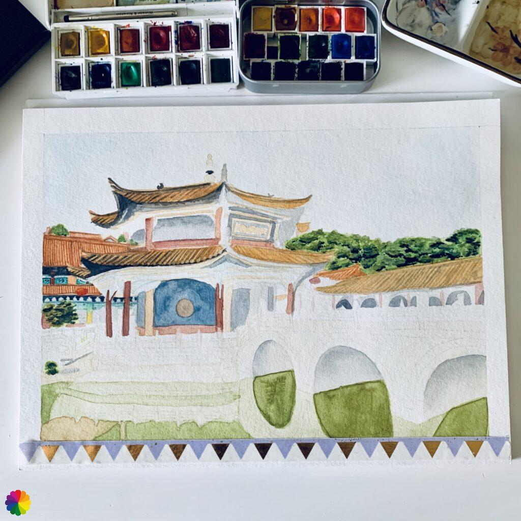 Chinese temple in progress