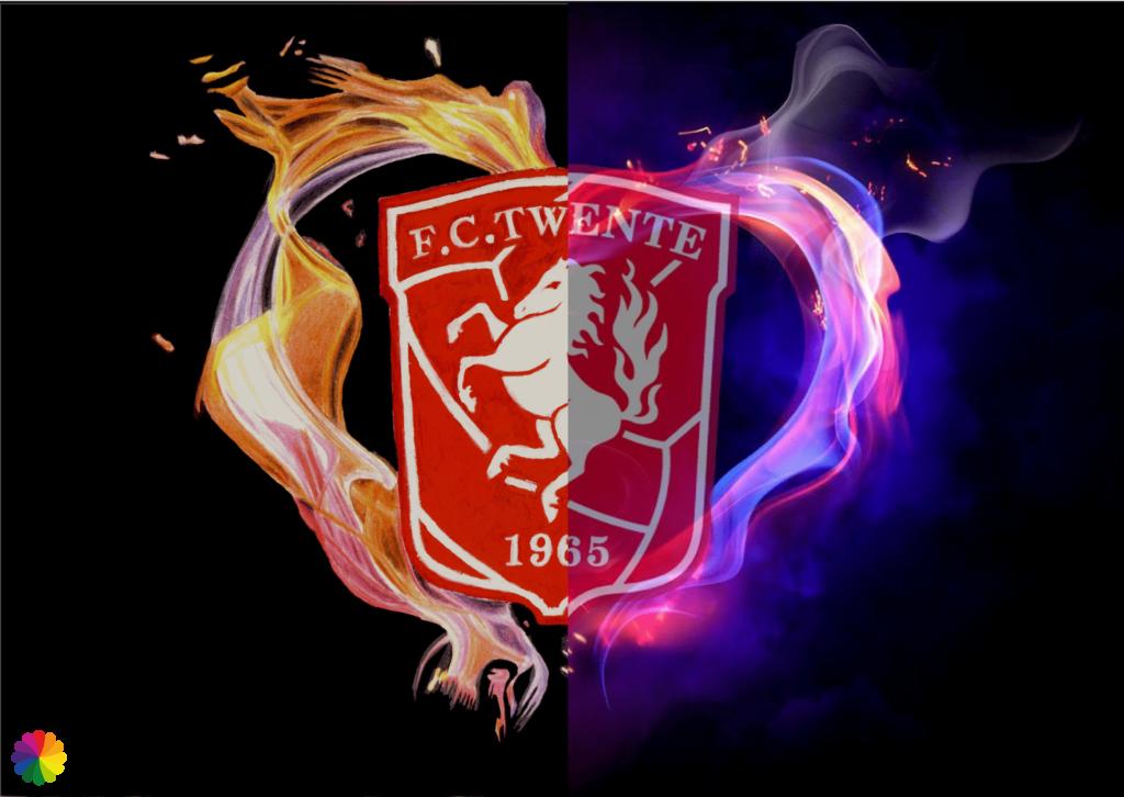 FC Twente half painting, half reference photo