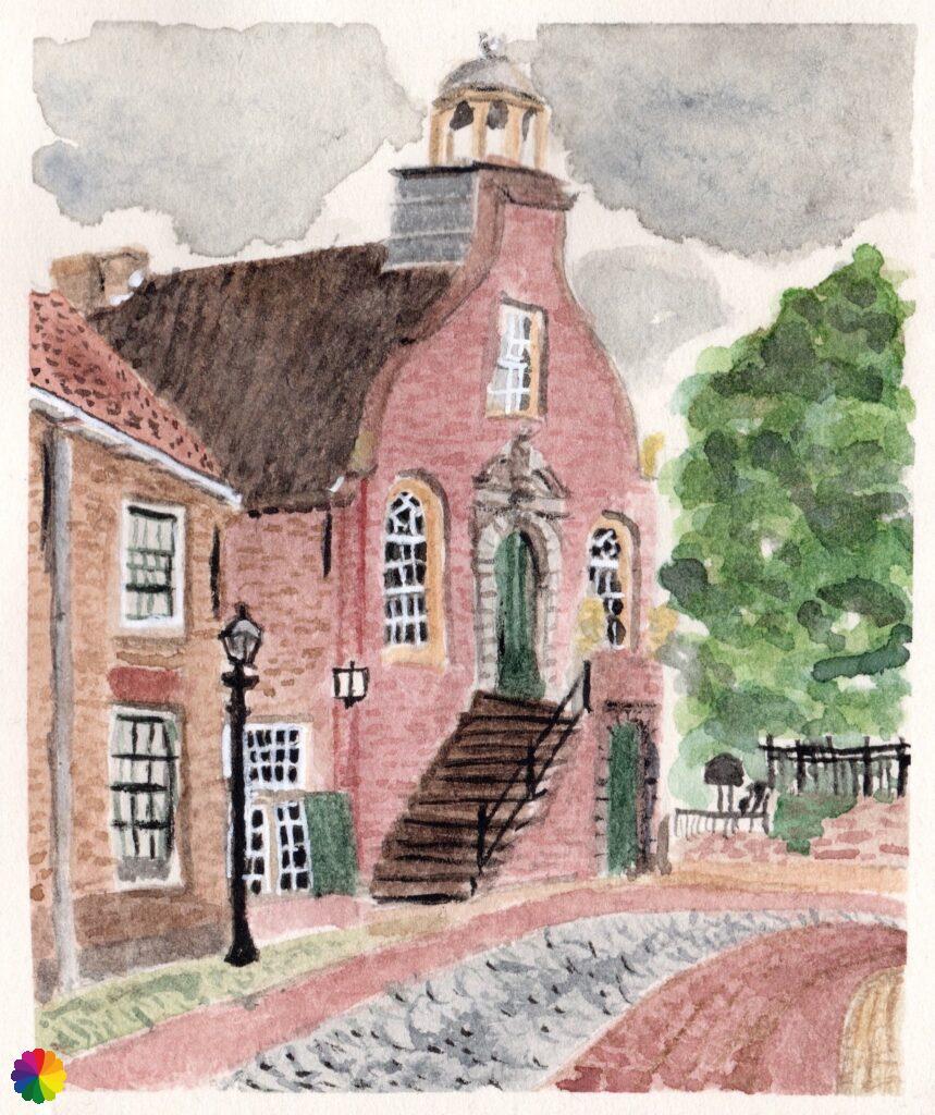 Illustration town hall Geervliet