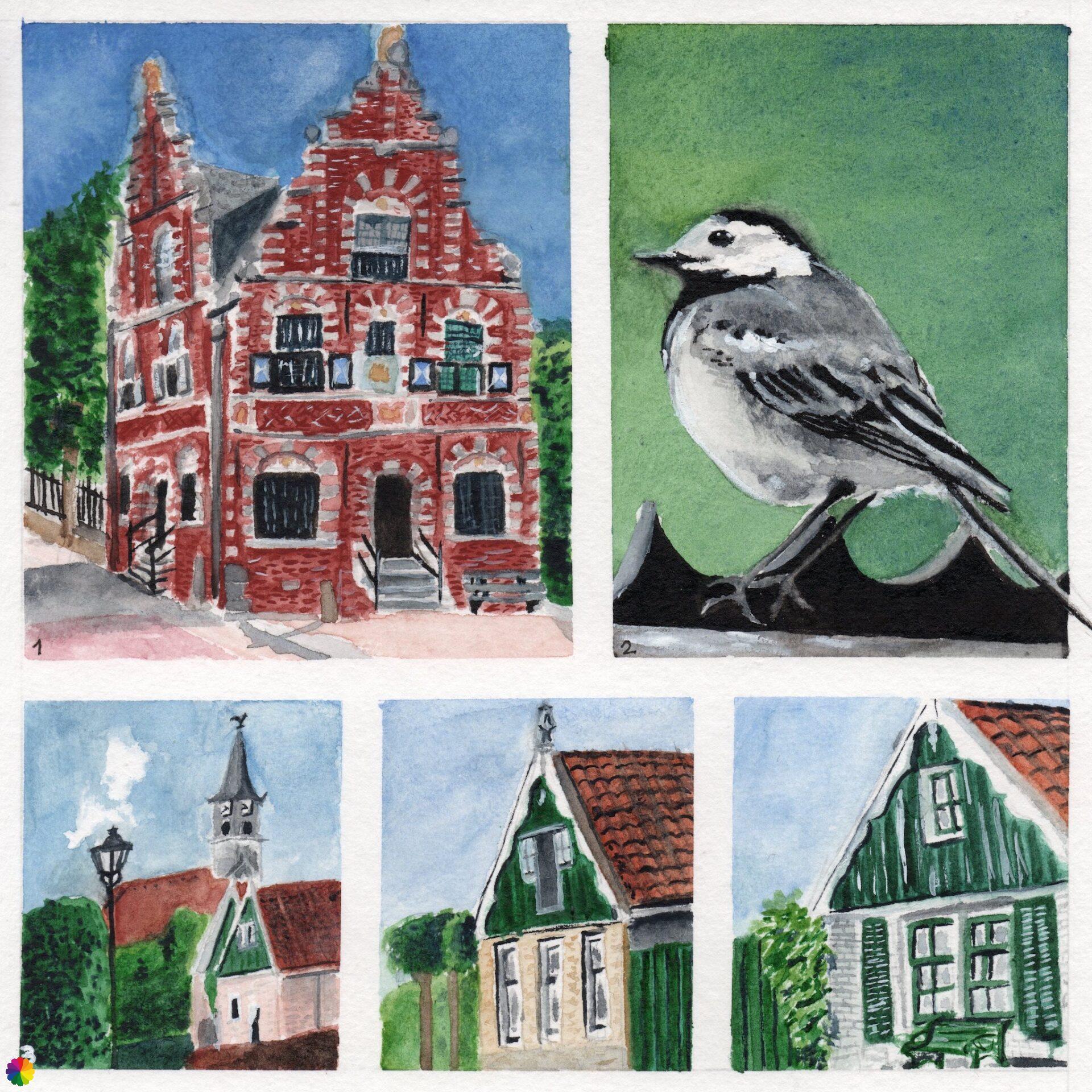 Illustraties wandeling De Rijp - Alkmaar