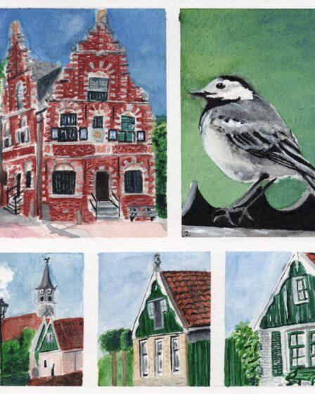 Illustrations hike from De Rijp to Alkmaar