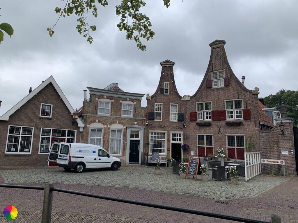 Beautiful facades at the Markt in Heenvliet