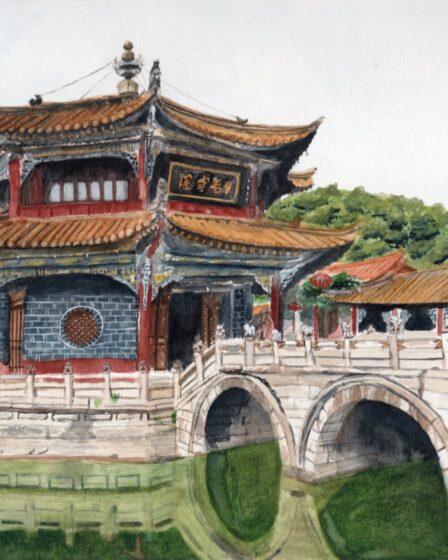 Yuantong tempel, Kunming, China