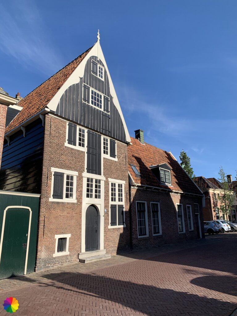 House with wooden facade in De Rijp