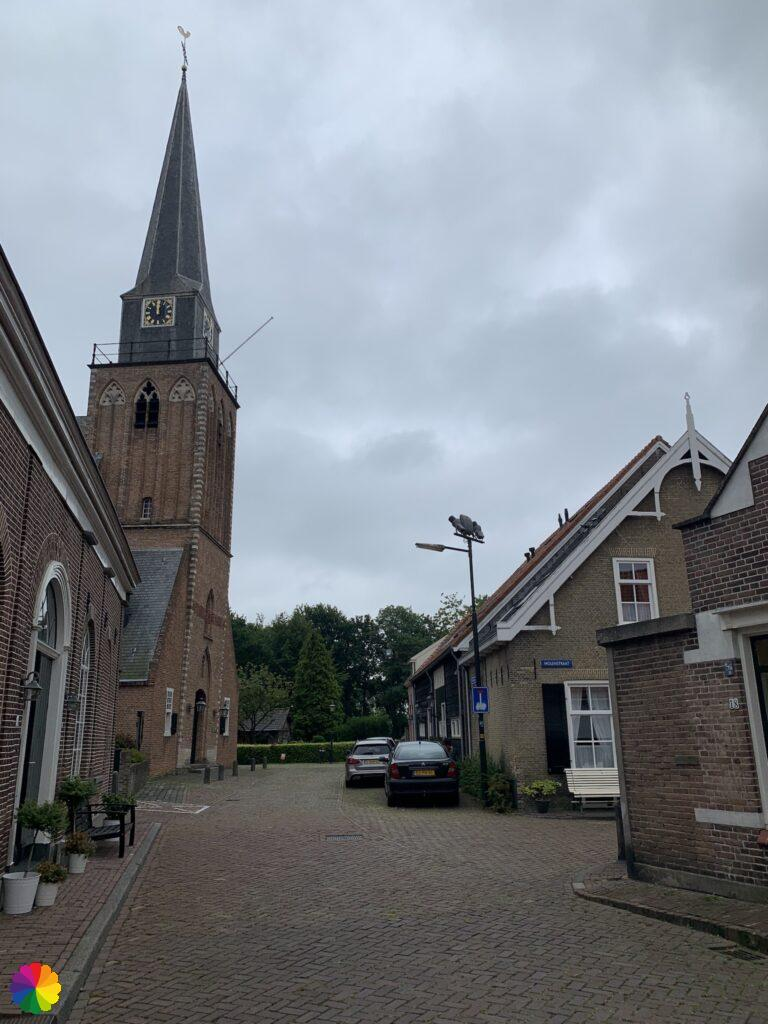 Historical streets at Geervliet in the Netherlands