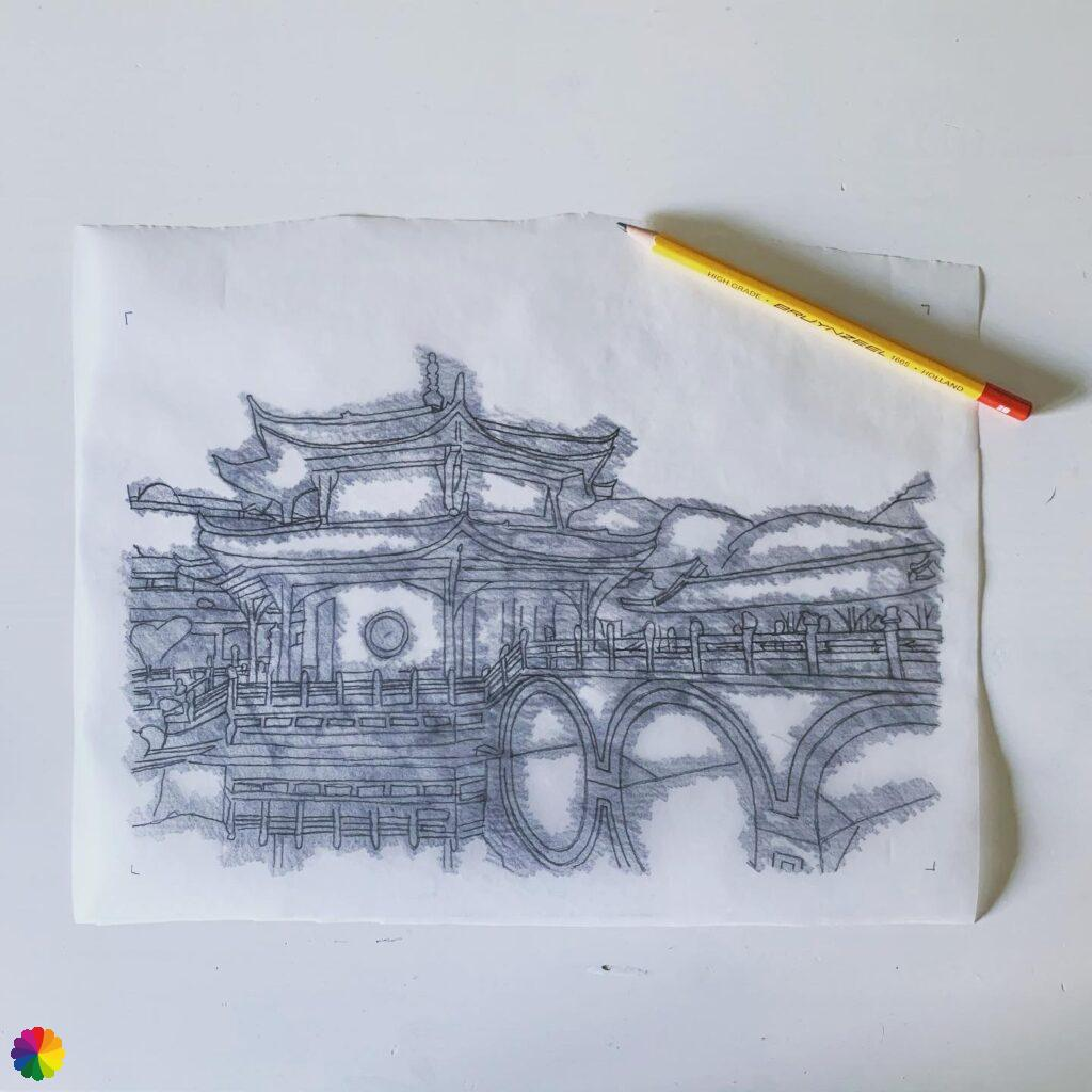 Trace of Chinese temple