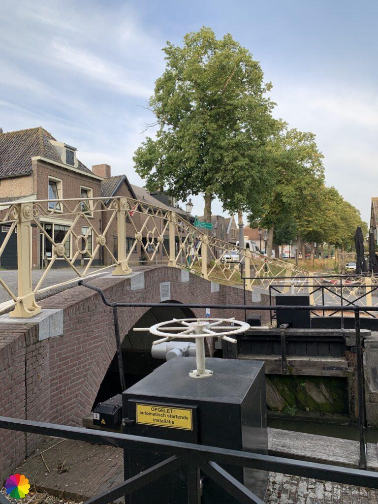 A sluice at Hekendorp in the Netherlands