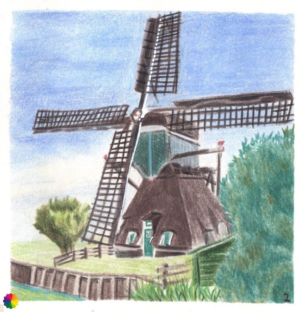 Illustratie Oukoopse molen