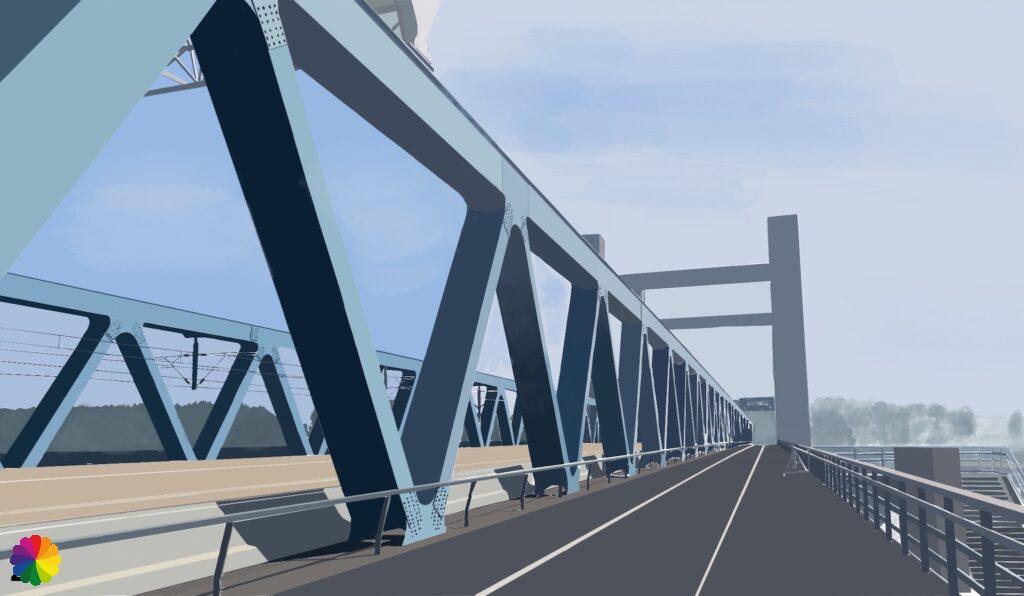 Illustration Caland bridge