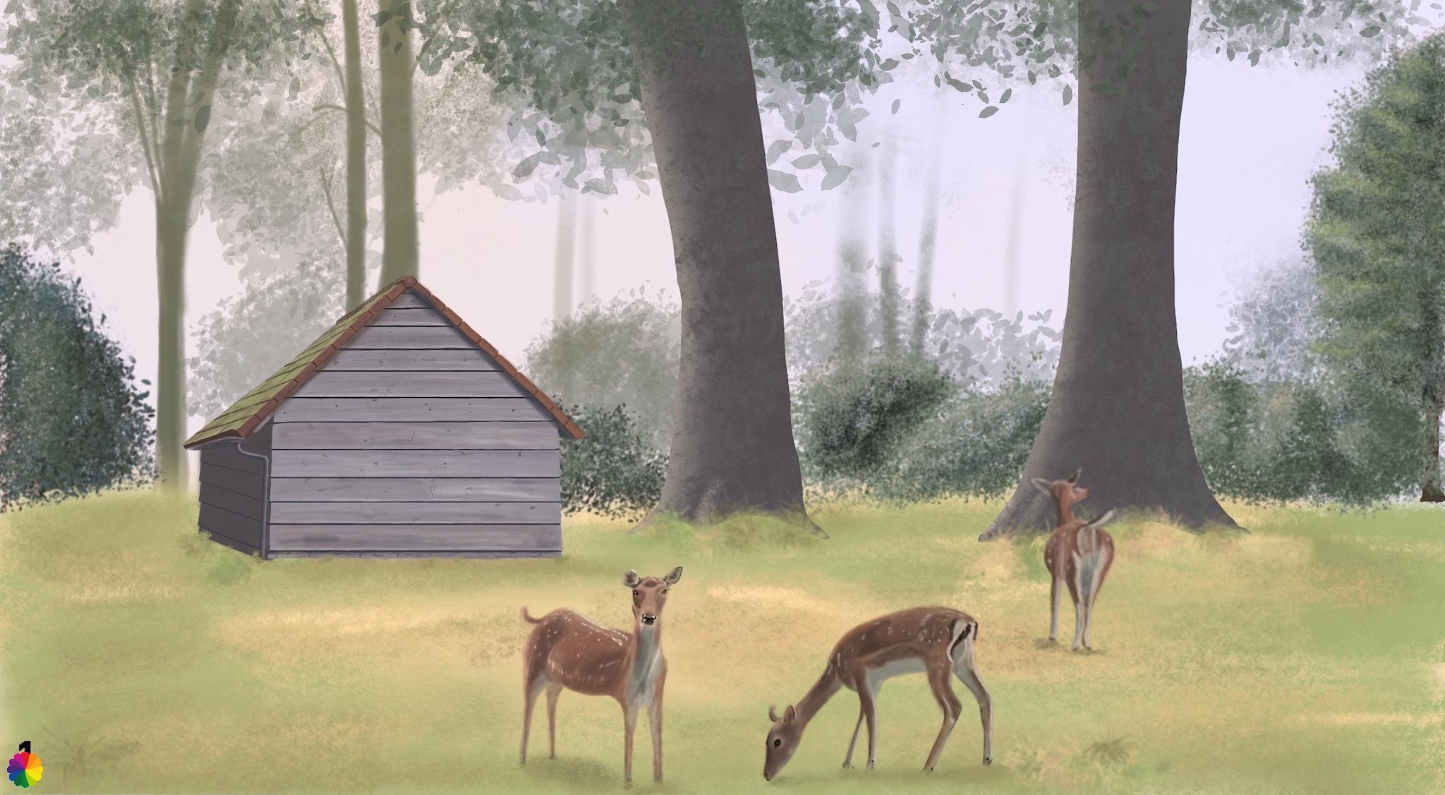 Illustratie hertenkamp Heenvliet