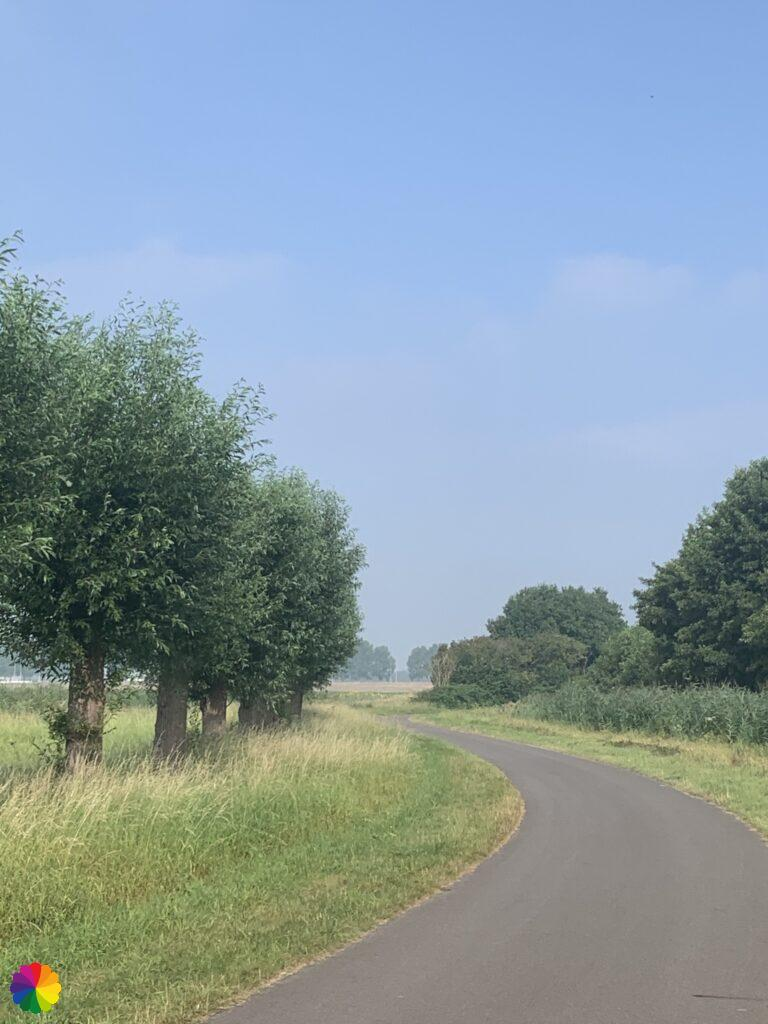 The road to Brielle in the Netherlands