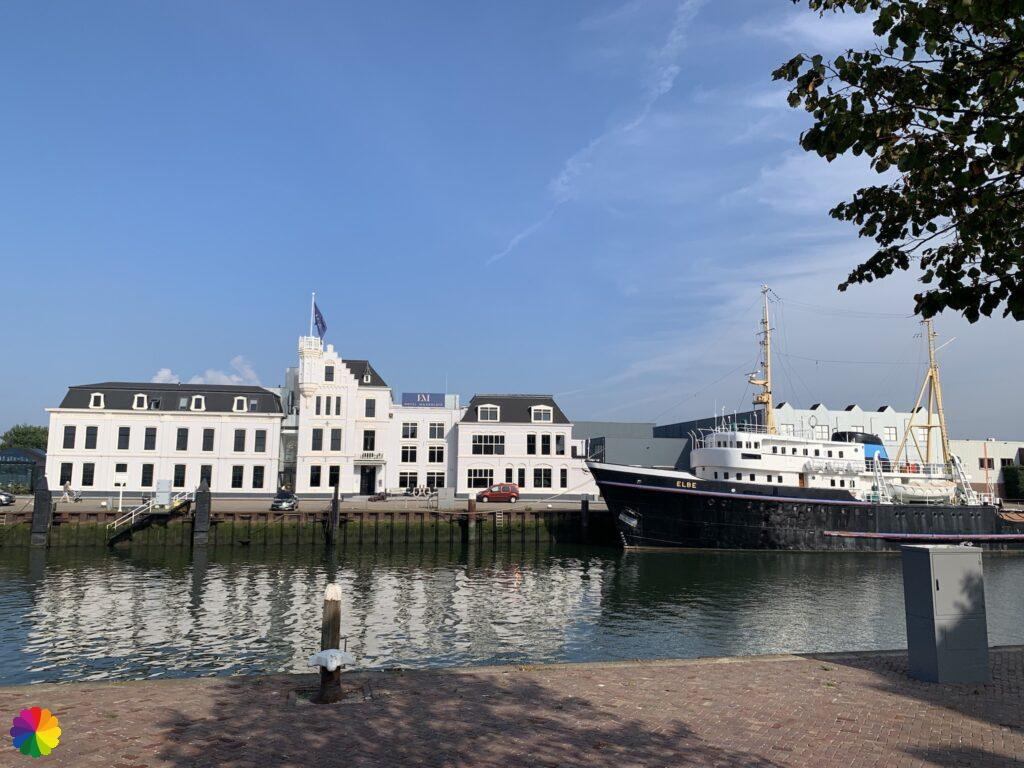 Ship at the harbour in Maassluis