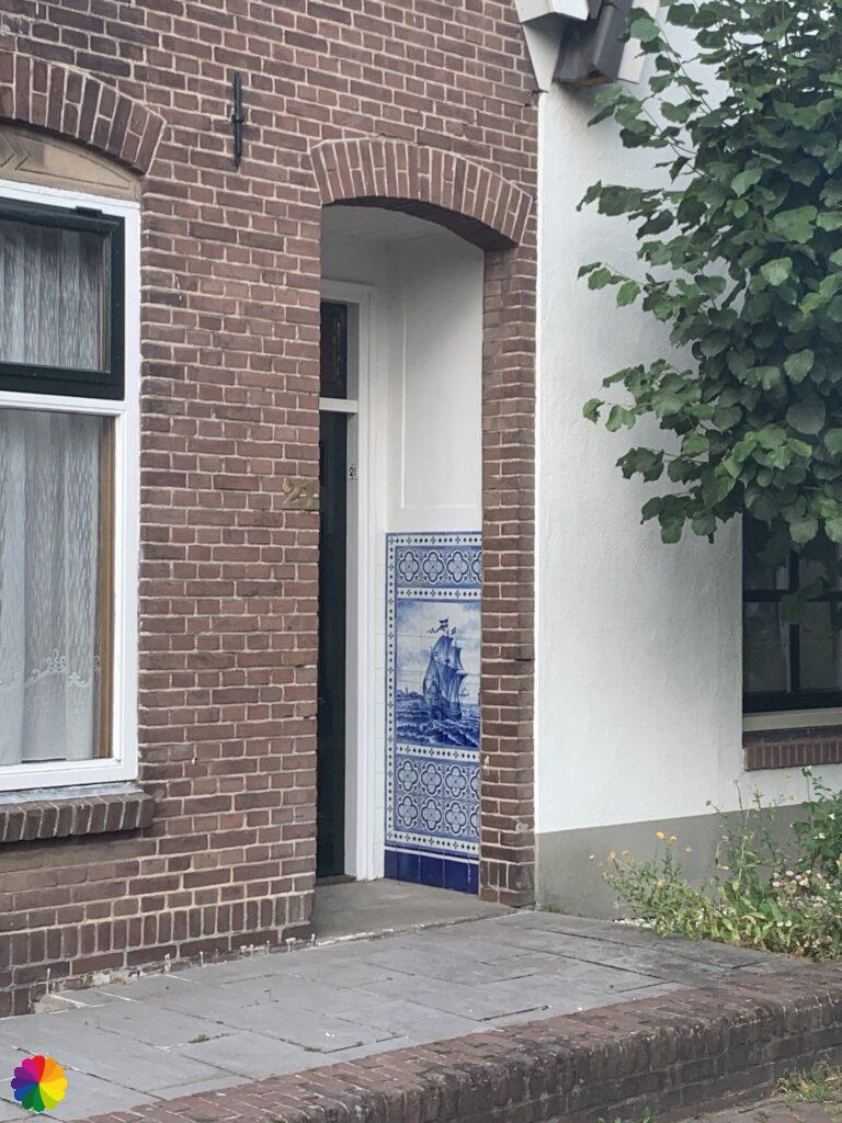 Tiles tableau at a house in Zwartewaal