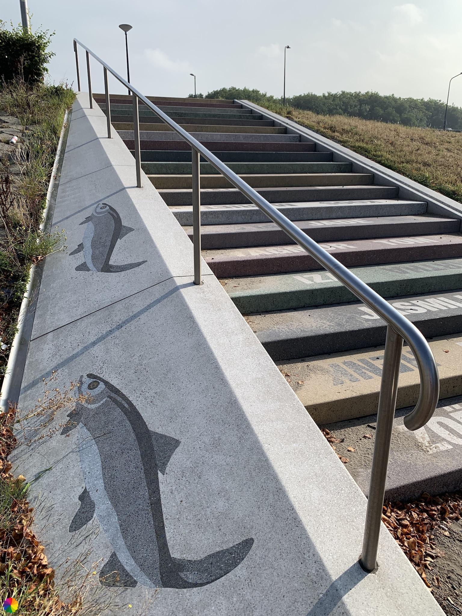 Vissenpatroon op een trap