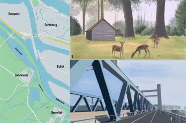 Hiking map Heenvliet - Rozenburg