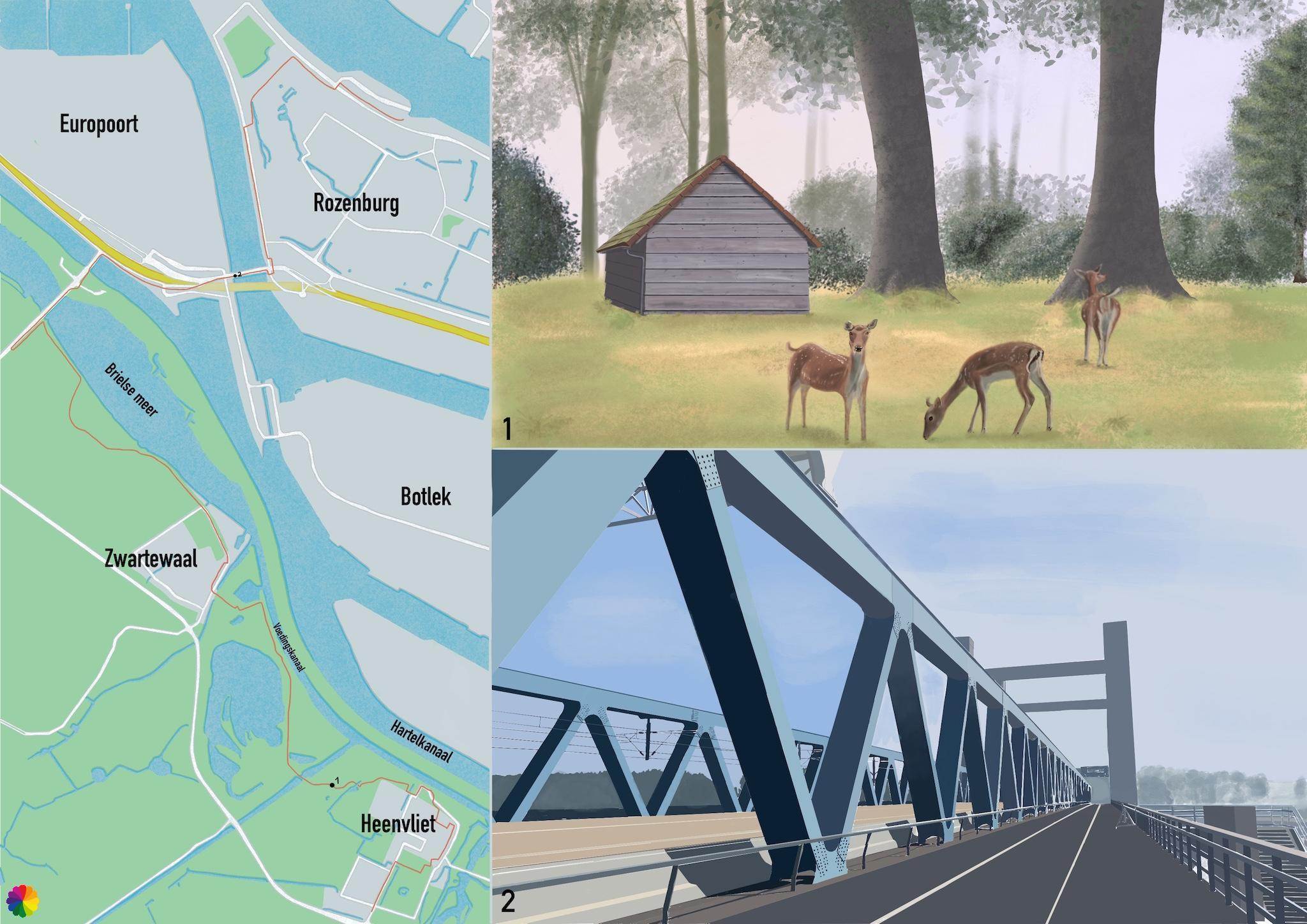 Wandelkaartje Heenvliet - Rozenburg