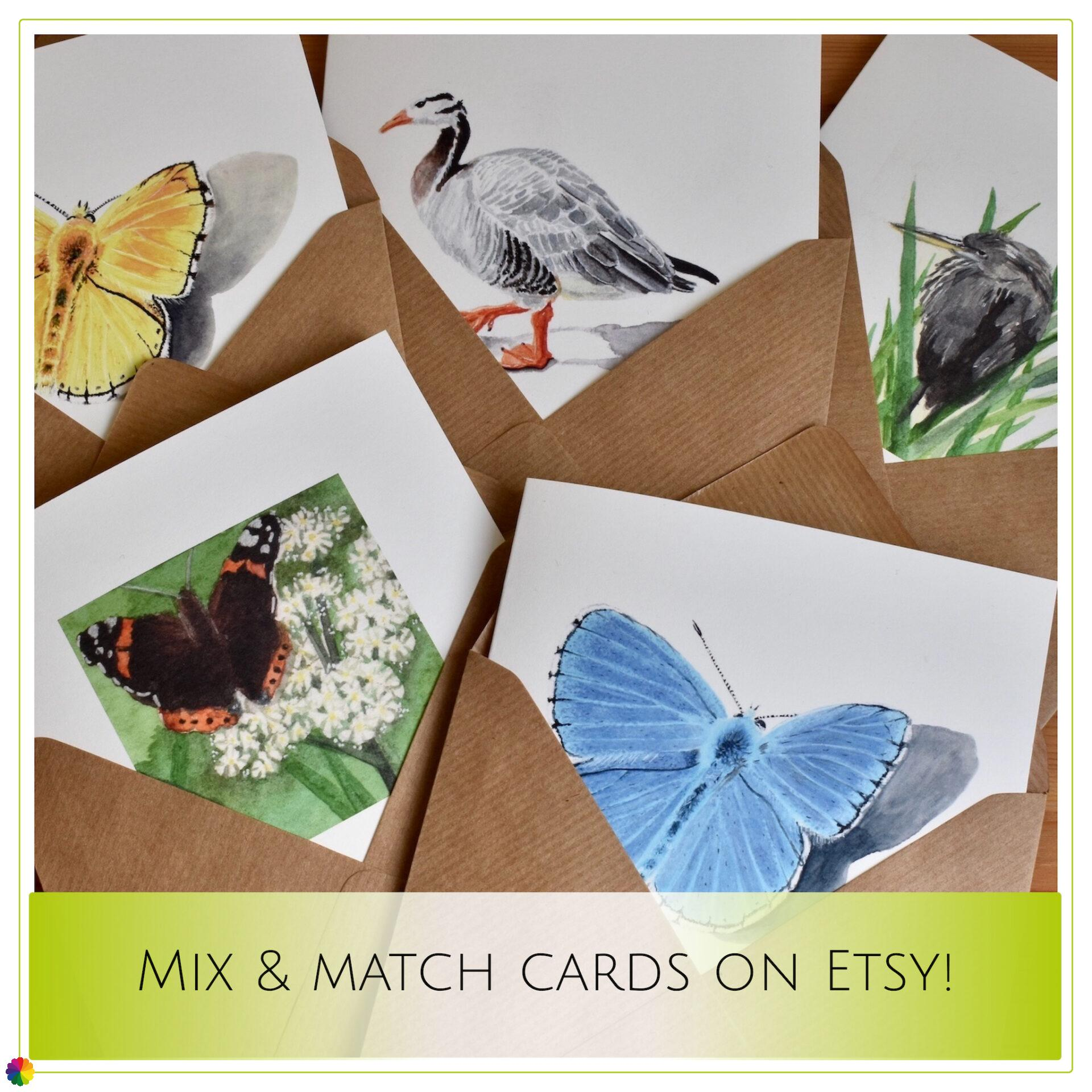 Etsy shop update mix and match cards