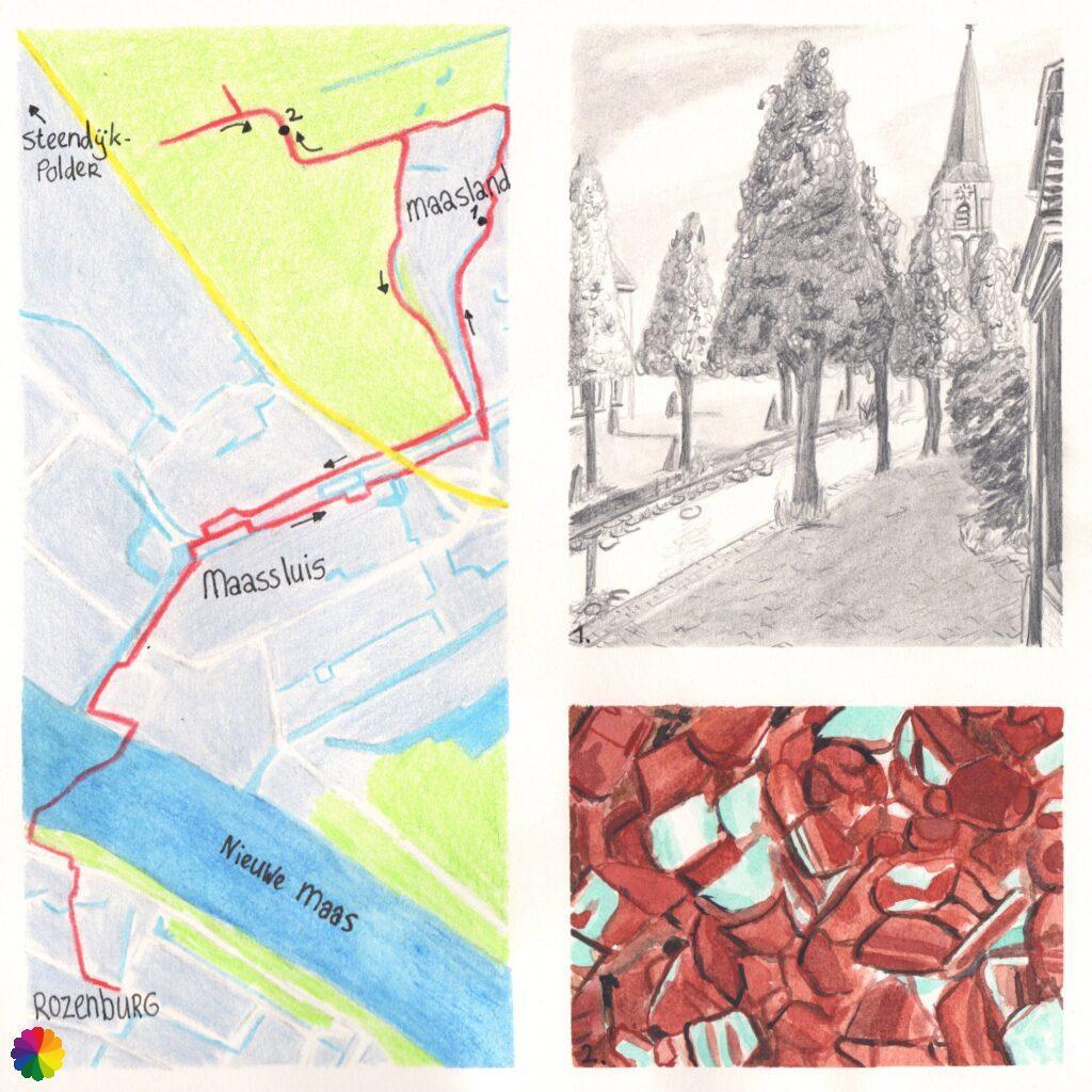 Hiking map Rozenburg - Maassluis