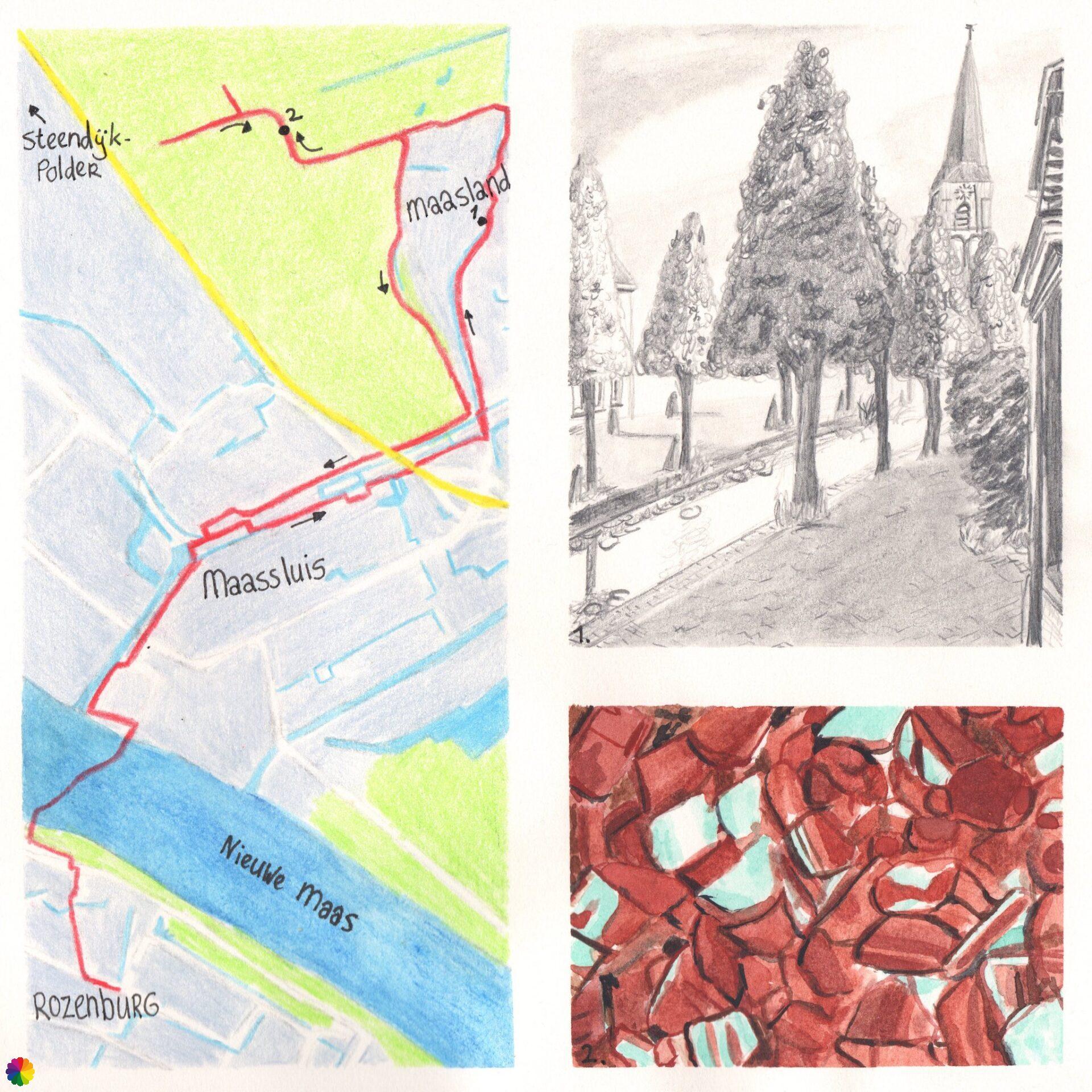 Wandelkaartje Rozenburg - Maassluis