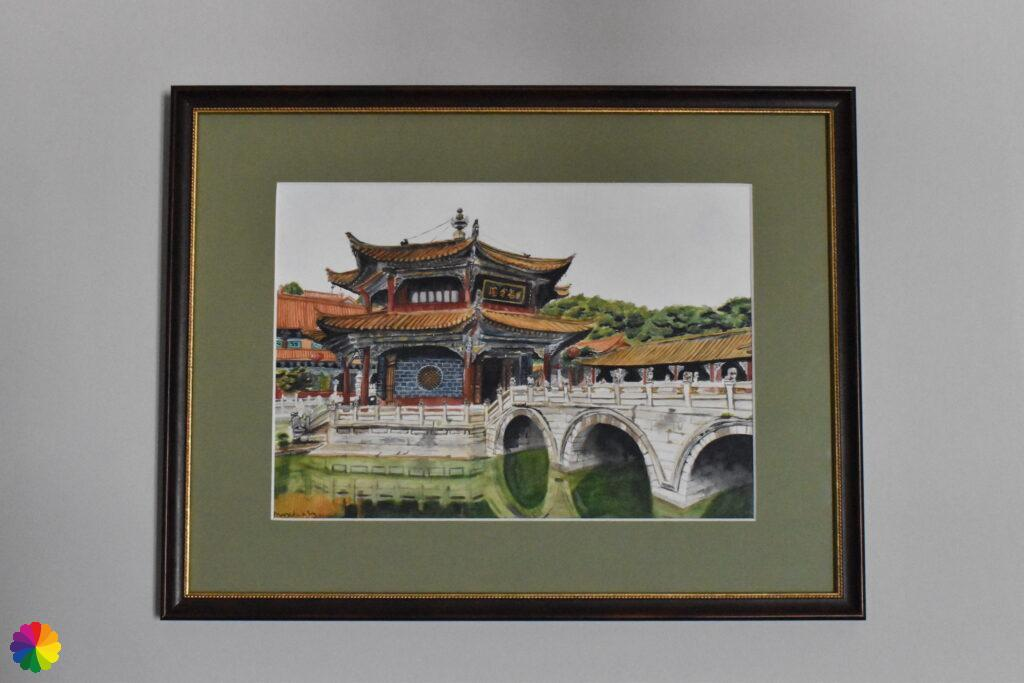 Original painting Yuantong temple