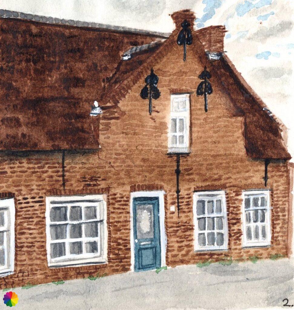 Illustratie boerderij in Heerjansdam
