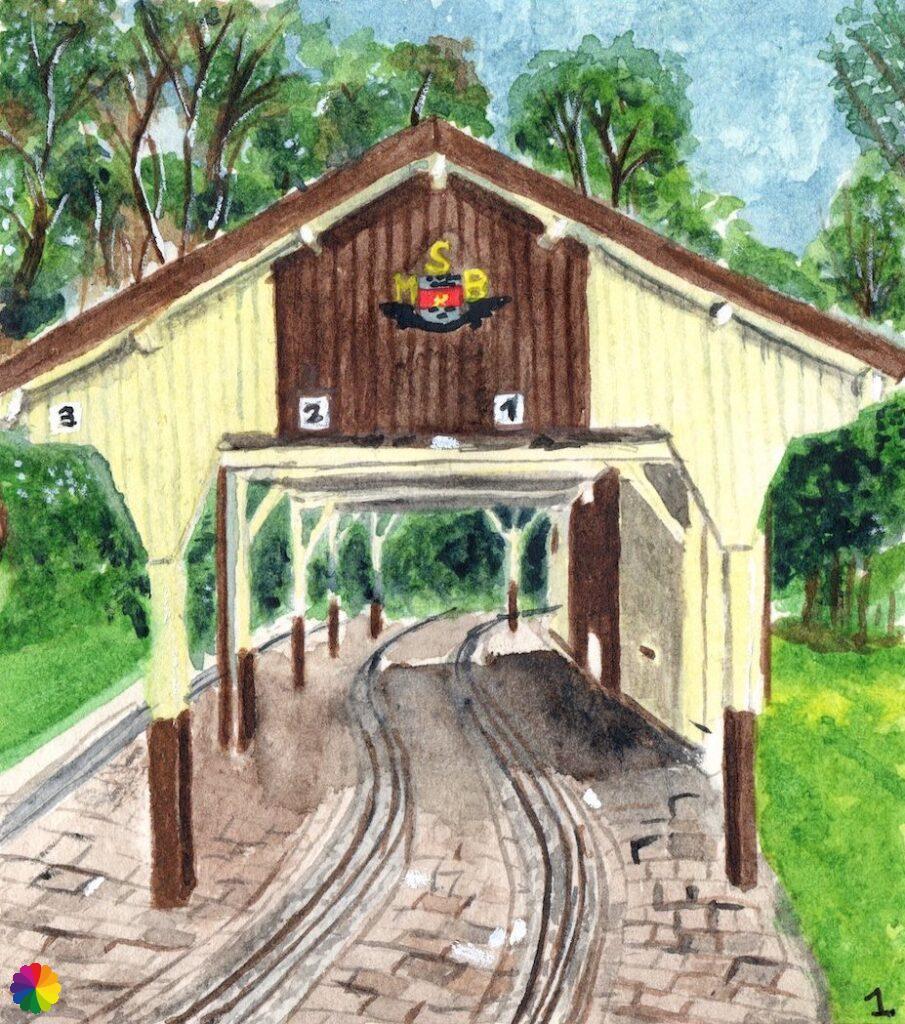Illustratie Maasoever Spoorweg