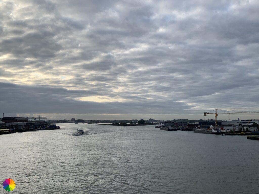 View from the bridge at Alblasserdam