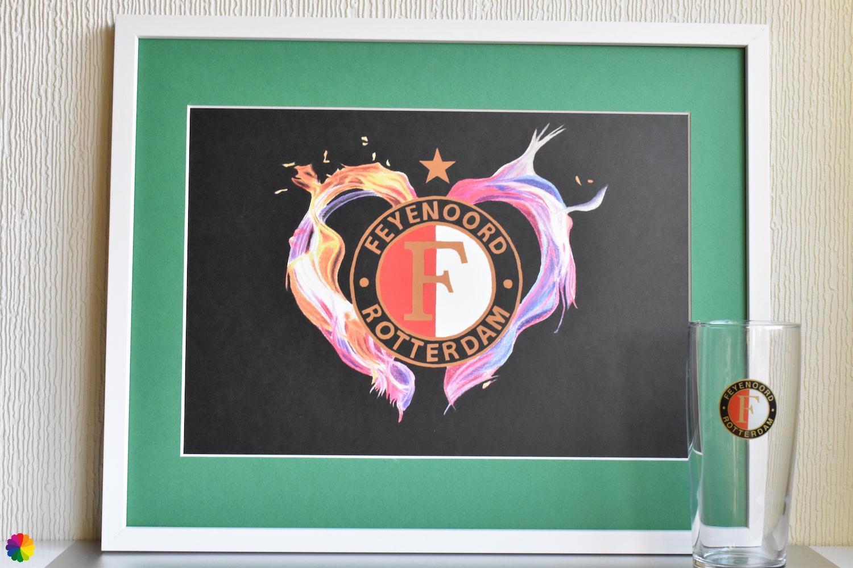 Feyenoord Vlammend hart Kampioen-editie groen-wit met ster