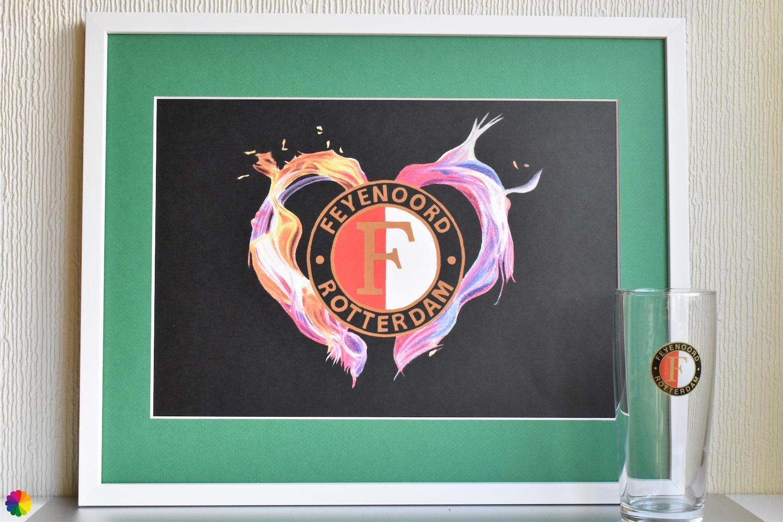 Feyenoord Vlammend hart Basis-editie groen-wit