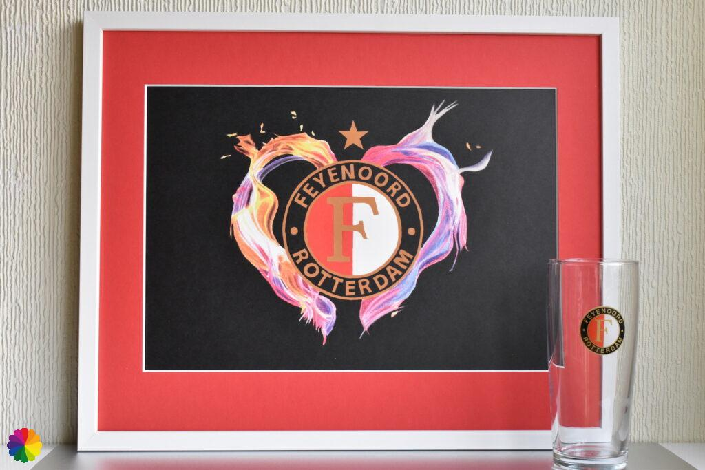 Feyenoord Flaming heart Champion Edition red-white with star