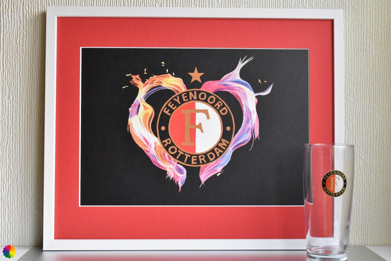Feyenoord Vlammend hart Kampioen-editie rood-wit met ster