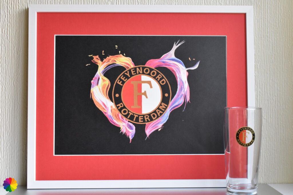 Feyenoord Flaming heart Basic Edition red-white