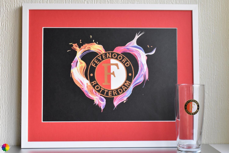 Feyenoord Vlammend hart Basis-editie rood-wit