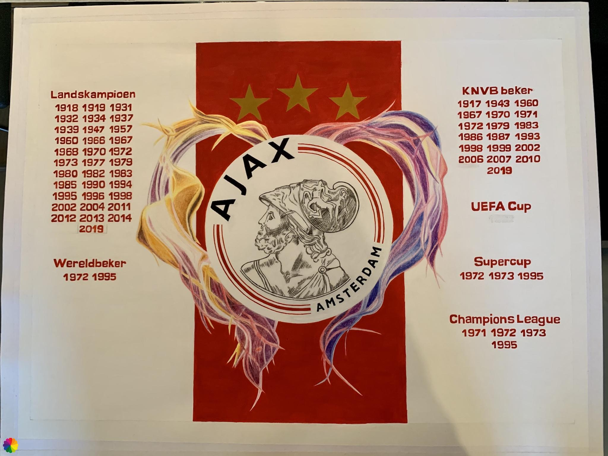 Ajax-logo er komt nog een jaartal bij