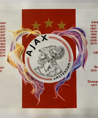 Ajax logo with flaming heart finished