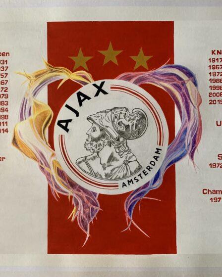 Ajax logo met vlammend hart afgerond