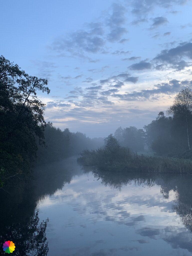 Little Loet river in the mist