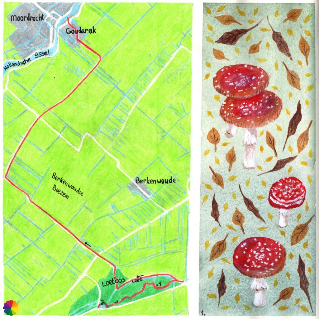 Hiking map Great rivers trail Loetbos - Gouderak