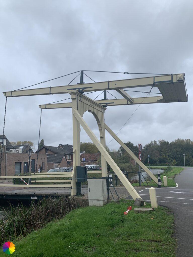 Yellow bridge at Nieuwerkerk aan den IJssel