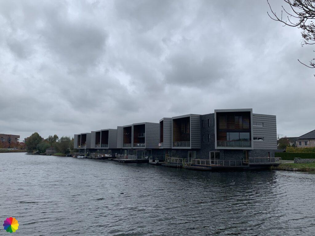 Waterfront houses at Nesselande in the Netherlands