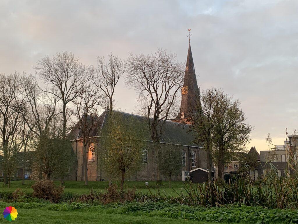 Church in Zevenhuizen at sunrise